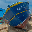 Lampedusa cemetery boats — Stock Photo
