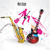 Vector music party, concert — Stock Vector