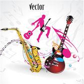 Vektor musik party, konzert — Stockvektor