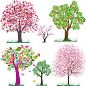 Vector fabulous trees — Stockvektor
