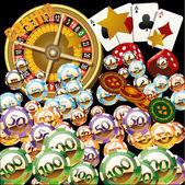 Vector casino chips — Stock Vector