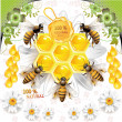 Stock Vector: Vector working bees