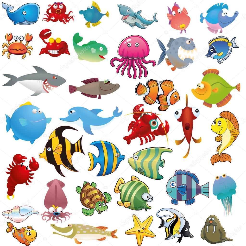 300Морские рисунки для детей