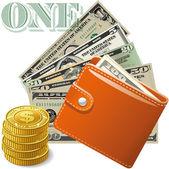 Business, money, wallet, — Stock Vector