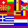 Veil of flags of different countries — Stock Photo
