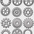 Gears, watch parts — Stock Photo