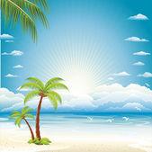 Vector background of sea beach — Stock Vector
