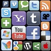 Icônes de réseaux sociaux et internet — Vecteur