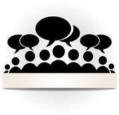 Social community forum — Stock Vector