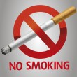 No smoking icon — Stock Vector #33189521