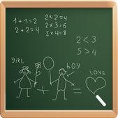 Vector illustration of school board — Stok Vektör