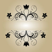 Vintage flower banner — Stock Vector