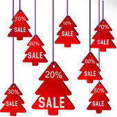 Illustration of Christmas sale — 图库矢量图片