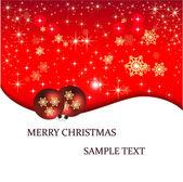 Banner illustration Christmas card — Stok Vektör