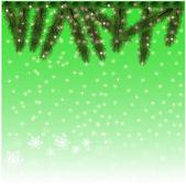 Fondo de nieve de navidad — Vector de stock