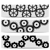 Gears background details — Stock Vector