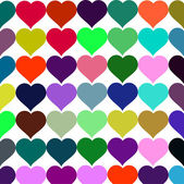 Vector background colorful hearts — Stock vektor