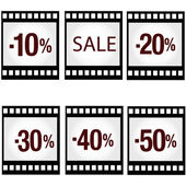 Sale photo and video products — Vettoriale Stock