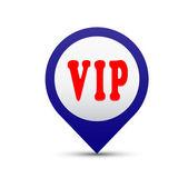 Vector button VIP — Stock Vector