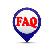 Vector button Faq — Stock Vector