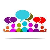 Social forum — Stock Vector