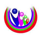 Vecteur de personnes de l'équipe logo — Vecteur