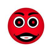 Vector red smiley — Vecteur