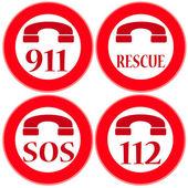 Rescue — Stock Vector