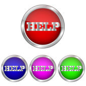 Vector button help help — Stock Vector
