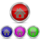 вектор икона дом — Cтоковый вектор