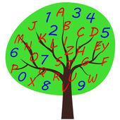 школа алфавит дерево — Cтоковый вектор