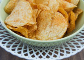 Background potato chips — 图库照片