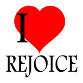 I love to rejoice — Stock Vector