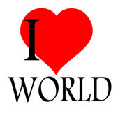 Me encanta el mundo — Vector de stock