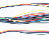 Colored wires isolated on white background — Стоковое фото