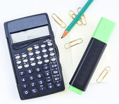 Calculator and pencil office — Foto de Stock