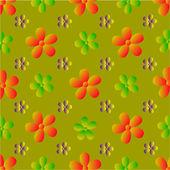 Vektor blommor mönster — Stockvektor