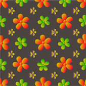 Vector veldboeket patroon — Stockvector