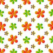 Dessin de fleurs de vecteur — Vecteur