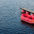 red boat — Stock Photo