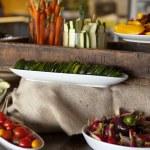 Fresh garden vegetables being prepared — Stock Photo #24060293