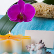 Toiletries with orchid — Foto Stock #24349183