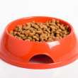Orange cat's bowl — Stock Photo