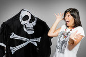 Crossbones fright — Stock Photo