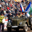 Постер, плакат: Opening of the competitions in jeep sprint First dirt 2013