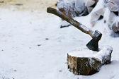 working axe — Stockfoto