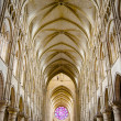 Nave of a Gothic Church — Stock Photo