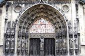 Portal gótico en parís — Foto de Stock