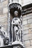 Statua gotica, parigi — Foto Stock