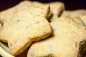 Shortbread stars on a plate — Stock Photo